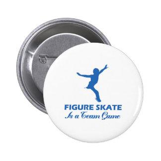 kunstschaats ontwerp ronde button 5,7 cm