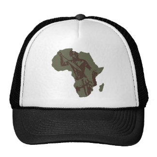 Kunstwerk van de Strijder van de Kaart van Afrika  Petten