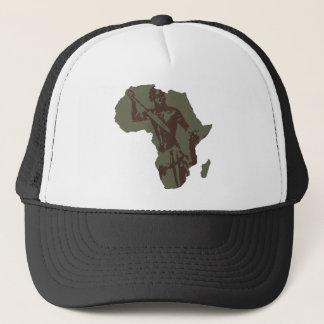 Kunstwerk van de Strijder van de Kaart van Afrika Trucker Pet