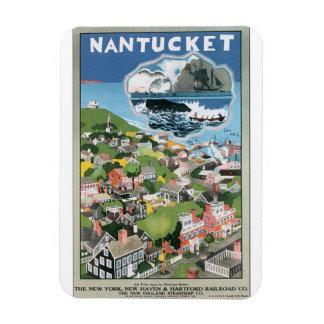 Kunstwerk van het Poster van de Reis van Nantucket Magneet