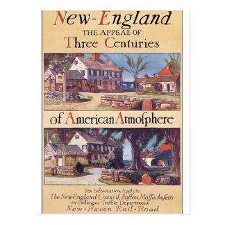 Kunstwerk van het Poster van de Reis van New Briefkaart
