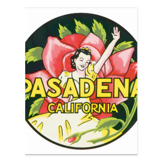 Kunstwerk van het Poster van de Reis van Pasadena Briefkaart