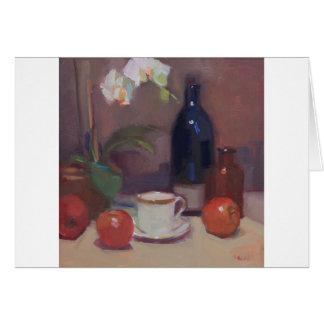 Kunstwerk van Orchideeën en Flessen met Kop Briefkaarten 0