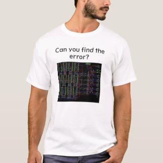 Kunt u de Fout, de T-shirt van de Ingenieur vinden