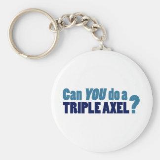 Kunt U drievoudige Axel doen? Basic Ronde Button Sleutelhanger