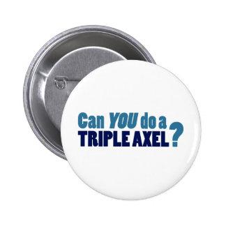 Kunt U drievoudige Axel doen? Ronde Button 5,7 Cm