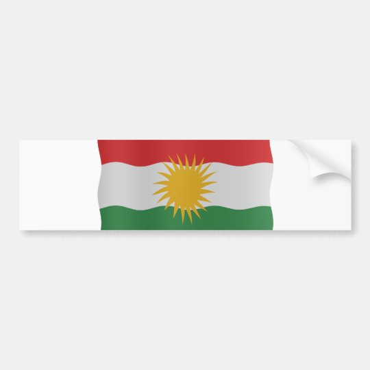 Kurdish flag bumpersticker