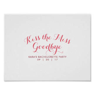 Kus de Misser Goodbye Bachelorette Party Guest Poster