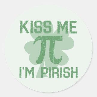 """""""Kus me, ben ik Pi -pi-rish"""" Ronde Sticker"""