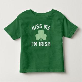 Kus me ik ben de Ierse Dag van | St. Patrick Kinder Shirts