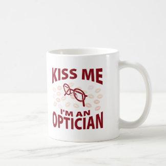 Kus me ik ben een Opticien Koffie Beker