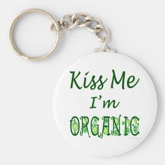Kus me ik ben Organisch Spreuk Basic Ronde Button Sleutelhanger