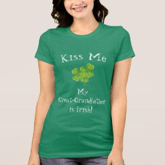 Kus me Mijn Groot - de grootvader is Ierse T-shirt