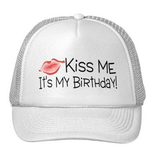 Kus me Zijn Mijn Kus van de Verjaardag Petten