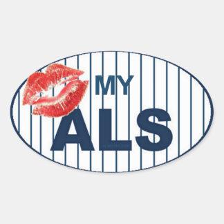 Kus Mijn ALS2 Ovale Sticker