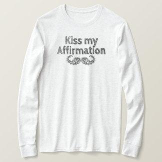 Kus mijn Lang Sleeve van de Bevestiging T Shirt