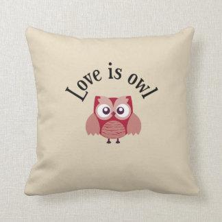 "Kussen 100% katoen - Verzameling ""Love is owl """