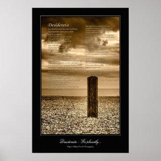 Kust de scène galerij-stijl van het Gedicht van Poster