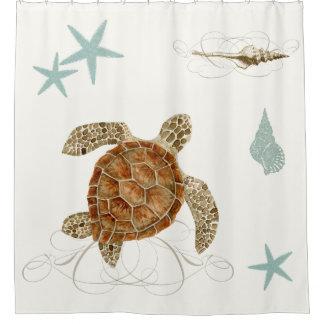 Kust Shells van de Zeester van de Schildpad van Douchegordijn