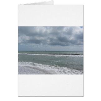 Kust van DiPisa strand van de Jachthaven met Wenskaart