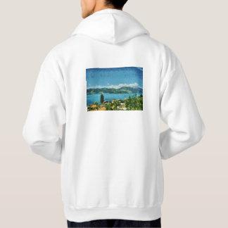 Kust van het meer hoodie
