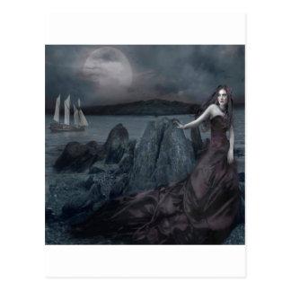 Kust van het Zee van de Prinses van de abstracte Briefkaart
