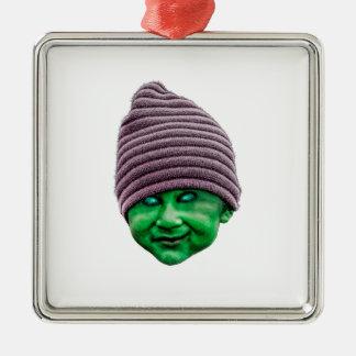 Kwade Golbin Zilverkleurig Vierkant Ornament