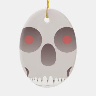 Kwade Schedel Keramisch Ovaal Ornament