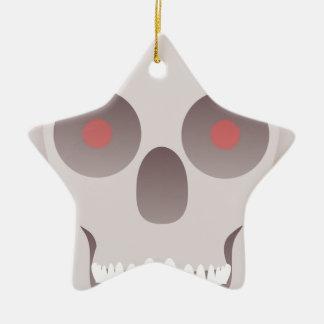 Kwade Schedel Keramisch Ster Ornament