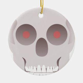 Kwade Schedel Rond Keramisch Ornament