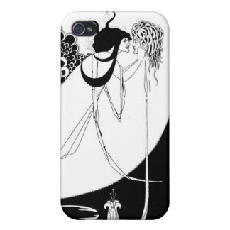Kwal door Beardsley Black/Wit iPhone 4 Cases