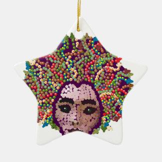 Kwal Keramisch Ster Ornament