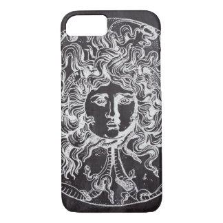 kwal van Gorgon van de vintage bord de Griekse iPhone 8/7 Hoesje
