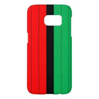 Kwanzaa kleurt het Rode Zwarte Groene Patroon van Samsung Galaxy S7 Hoesje