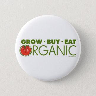 Kweek, koop, eet Organisch Ronde Button 5,7 Cm