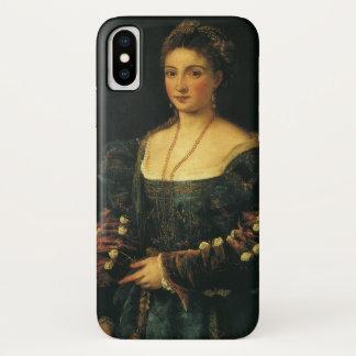 La Bella, Hertogin van Urbino door Titian iPhone X Hoesje