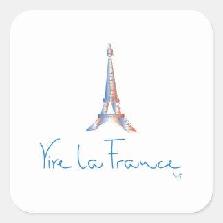 La Frankrijk het Frans van Viva Vierkante Sticker