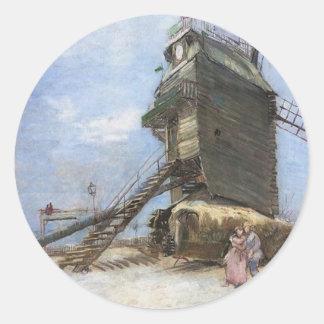 La Galette van le Moulin DE door Vincent van Gogh Ronde Sticker