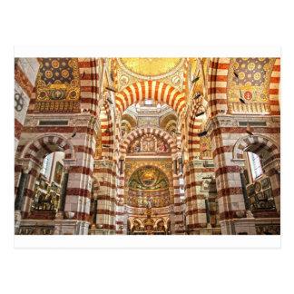 La garde van Notre Dame DE van de kathedraal in Briefkaart