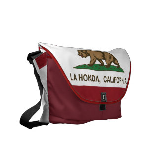 La Honda van de Vlag van de Republiek van Californ Schooltassen