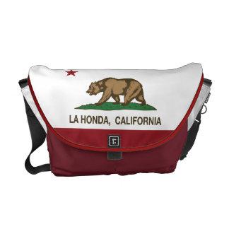 La Honda van de Vlag van de Republiek van Californ Messenger Bags