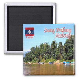 La - Laos - Luang Prabang - Mekong Vierkante Magneet