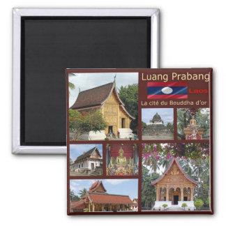 La - Laos - Luang Prabang - Mozaïek - Collage Magneet