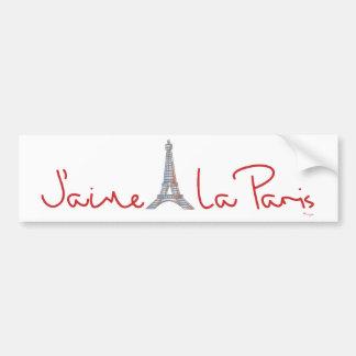 La Parijs van J'aime (de liefde Parijs van I) Bumpersticker