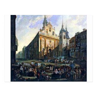 La Puerta del Sol Engels Madrid door Luis Paret y Briefkaart