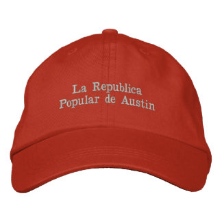 La Republica Popular DE Austin HAT Geborduurde Pet