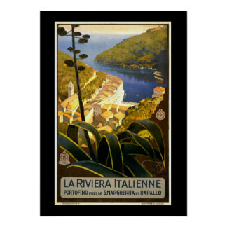 La Riviera Italienne, vintage reisposter Poster