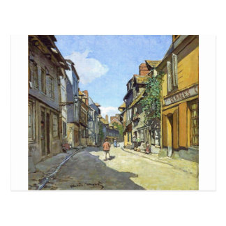 La Rue Bavolle in Honfleur door Claude Monet Briefkaart