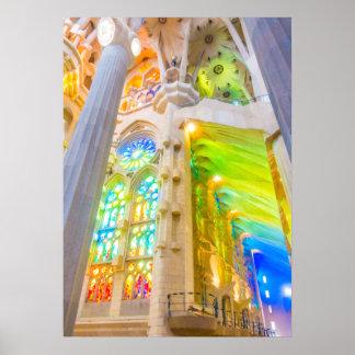 La Sagrada Família - Barcelona, Spanje Poster