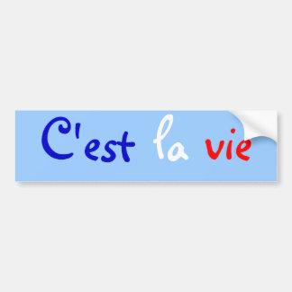 La van C'est vie ook Bumpersticker